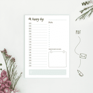 Daily Planner Happy Day - Wonderspot