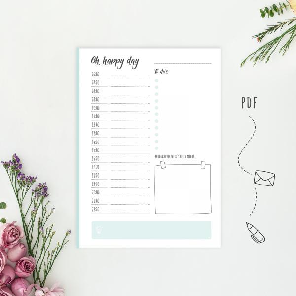 Daily Planner Happy Day - Wonderspot