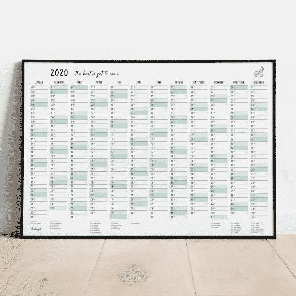 Wandkalender & Jahreskalender 2020 von Wonderspot