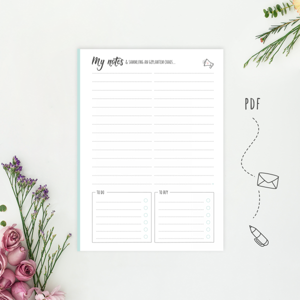 Wonderspot Digital Planner Notes