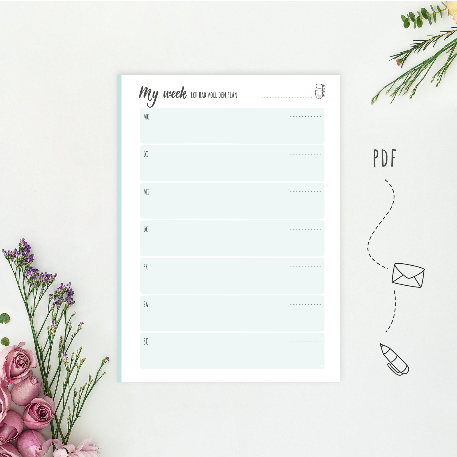 Wonderspot Digital Planner Weekly Planner