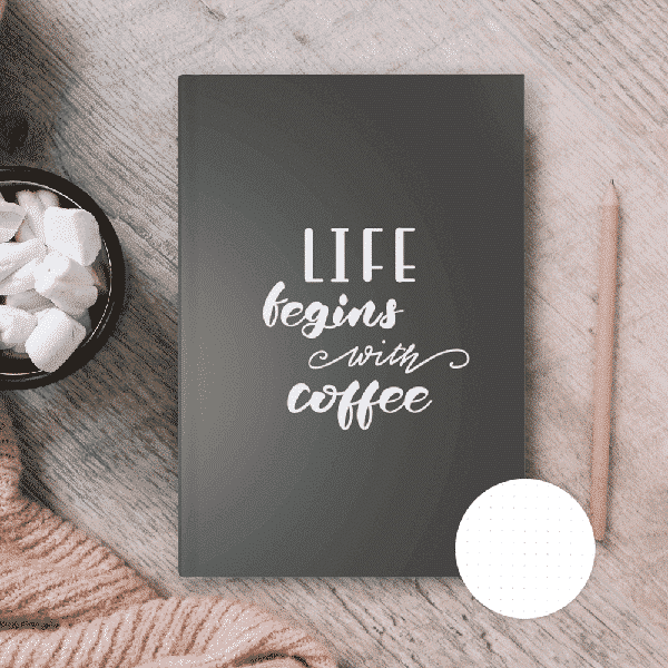 "Punktraster Notizbuch ""Coffee Is Life"" Wonderspot"