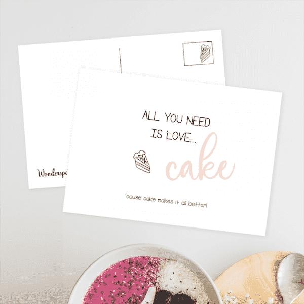 Wonderspot Schreibwaren Postkarte Cake