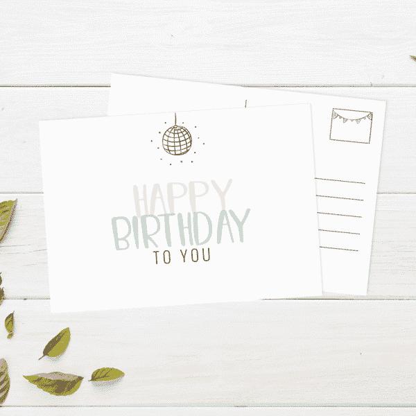 Wonderspot Schreibwaren Postkarte Happy Birthday