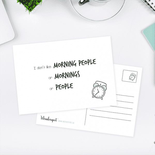 Wonderspot Schreibwaren Postkarte Mornings