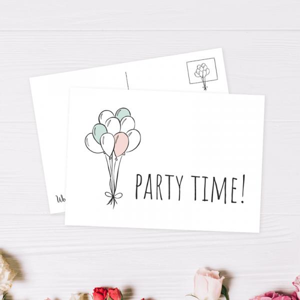 Wonderspot Schreibwaren Postkarte Party Time