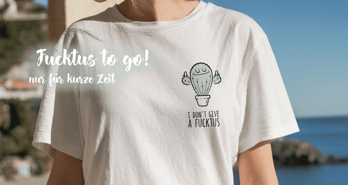 Wonderspot T-Shirt Textilien Fucktus Kaktus