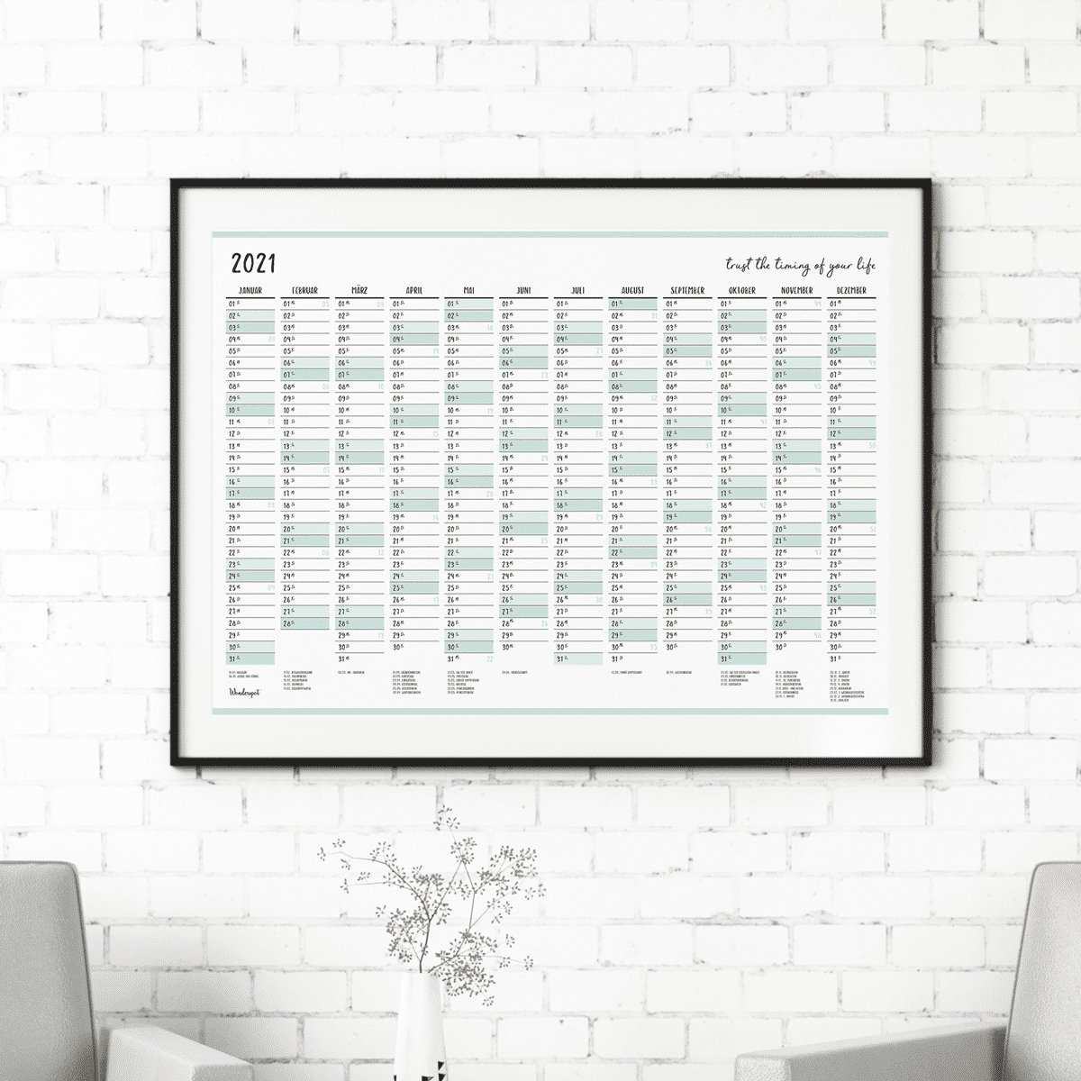 Wandkalender 2021 Poster A3