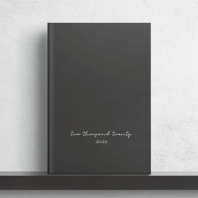 Minimal Black Planer & Kalender 2020 von Wonderspot