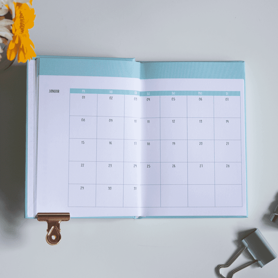 Little Wonder Kalender & Planer 2020 in A6 Türkis Wonderspot