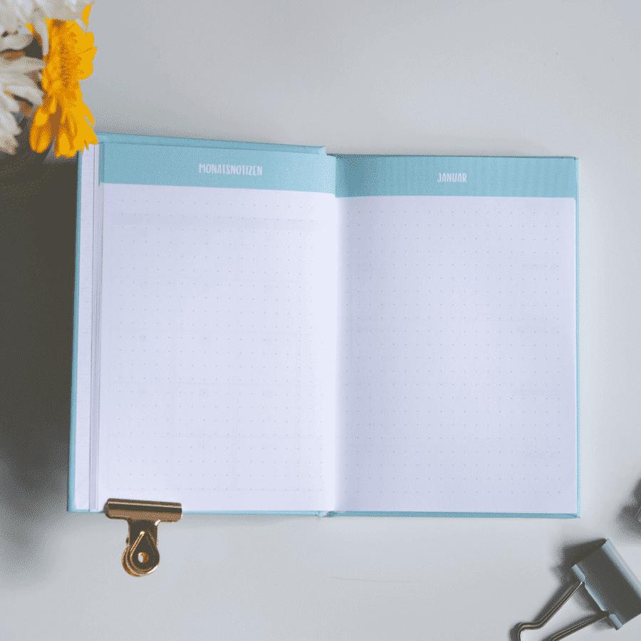 Little Wonder Kalender & Planer 2020 in A6 Türkis Wonderspot
