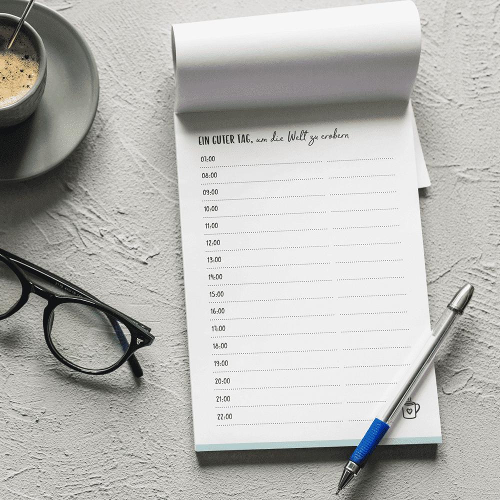 Wonderspot Notizblock A6 Mini Tagesplan