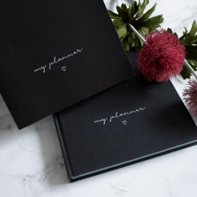Kalender & Planer 2020 Wonderspot Softcover Minimal Black undatiert