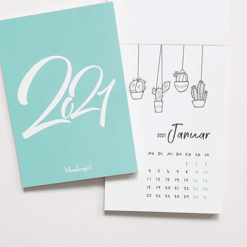 Postkarten Kalender Wonderspot 2021