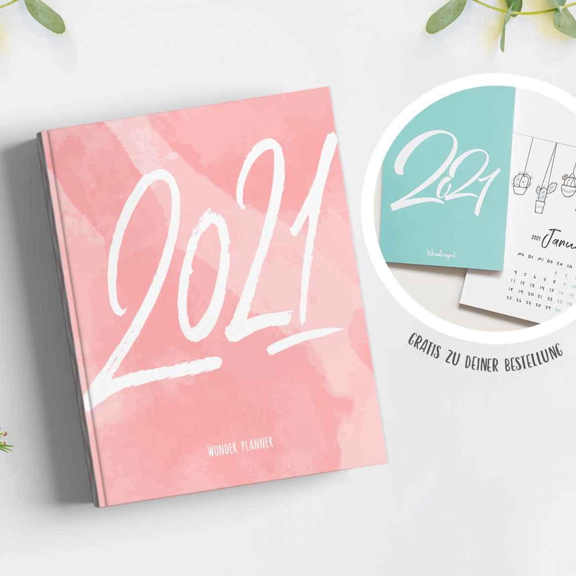 Kalender & Lebensplaner 2021 Wonderspot - Wonder Planner Angebot