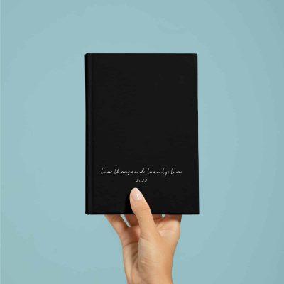 Minimal Black Kalender & Planer 2022 Wonderspot